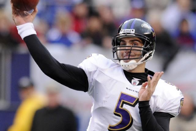 Le quart-arrière des Ravens Joe Flacco... (Photo: AP)