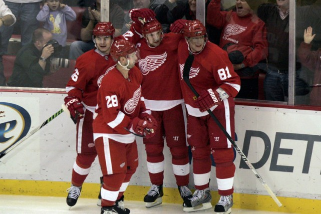 Jiri Hudler et Daniel Cleary ont chacun enfilé deux buts et les Red Wings de... (Photo: Reuters)