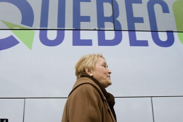 Pauline Marois est restée sereine, ce matin, après la publication d'un sondage... (Photo La Presse Canadienne)