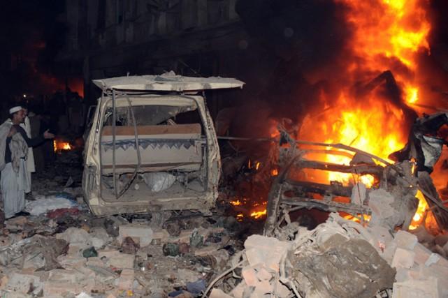 Une voiture piégée a explosé à l'extérieur d'une... (Photo: AFP)