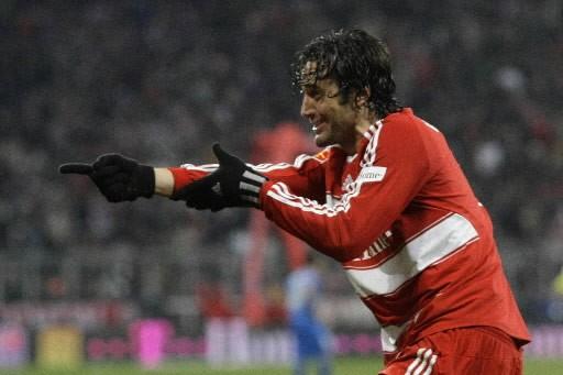 Luca Toni célèbre son but qui a mené... (Photo: Reuters)