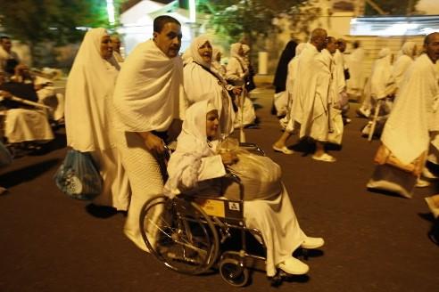 Trois millions de musulmans venus d'une centaine de pays ont convergé samedi... (Photo AP)