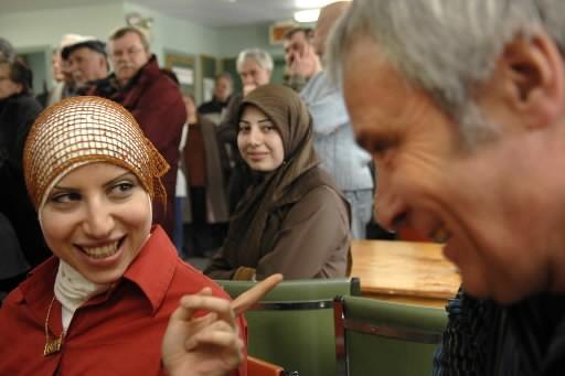 L'an dernier, des musulmanes avaient rendu visite aux... (Photo: Bernard Brault, Archives La Presse)