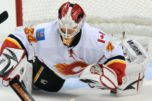 Le gardien des Flames de Calgary Miikka Kiprusoff a bloqué les 31 lancers que... (Photo: AP)