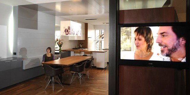 La paroi qui «sépare» le salon du vestibule... (Photo Bernard Brault, La Presse)