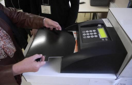 Montréal a testé les machines à voter lors... (Photo: La Presse)