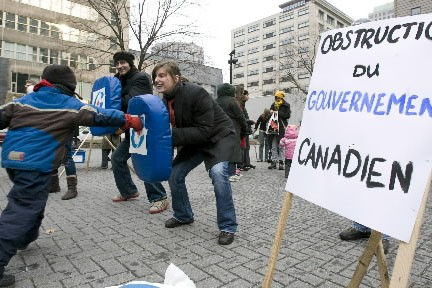 Des groupes environnementaux ont aménagé une course à... (Photo: André Tremblay, La Presse)