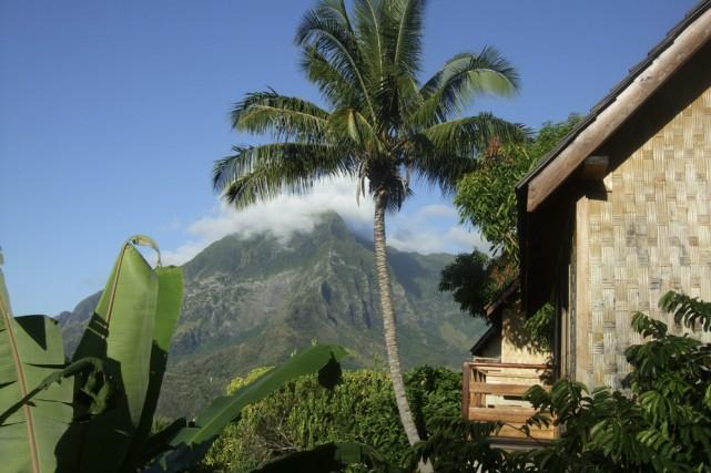 De mon bungalow, je peux admirer le mont... (Photo: Andrée Lebel, La Presse)