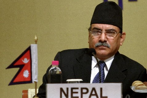 Le Premier ministre du Néapl Pushpa Kamal Dahal... (Photo: Bloomberg News)