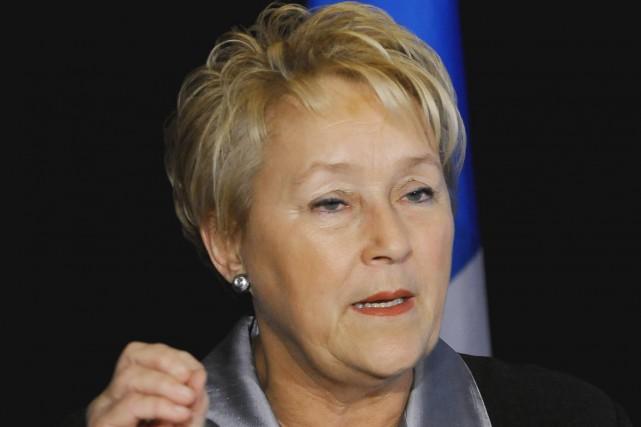 La chef du Parti québécois, Pauline Marois, estime qu'une adoption rapide du... (Photo La Presse Canadienne)
