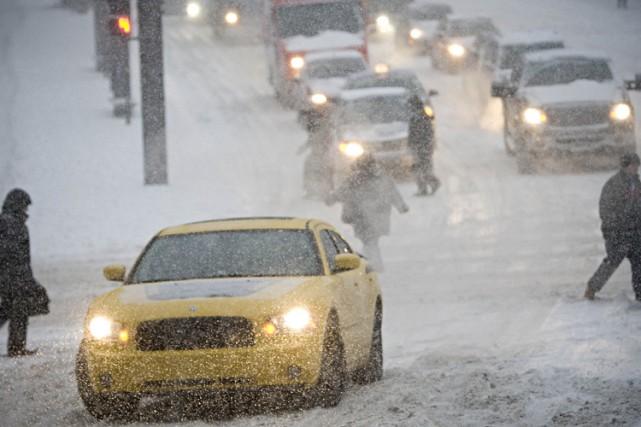 Environnement Canada prévoit  qu'environ 15 centimètres de... (Photo: Patrick Sanfaçon, La Presse)