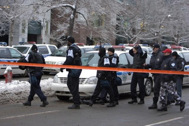 Une vaste opération policière a été lancée vers... (Photo: Alain Roberge, La Presse)