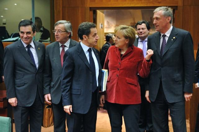 Les dirigeants de l'UE s'orientent vers un accord vendredi sur leur ambitieux... (Photo: AFP)