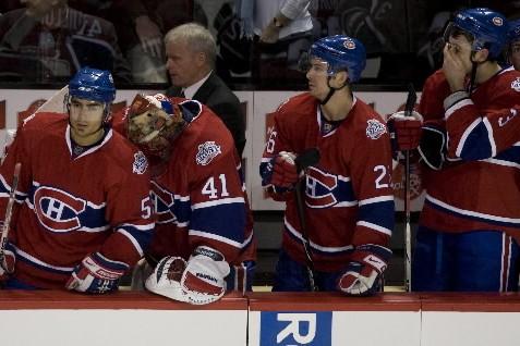C'est un film qu'on avait déjà vu. Le Canadien qui s'affaisse après avoir joué... (Photo: André Pichette, La Presse)