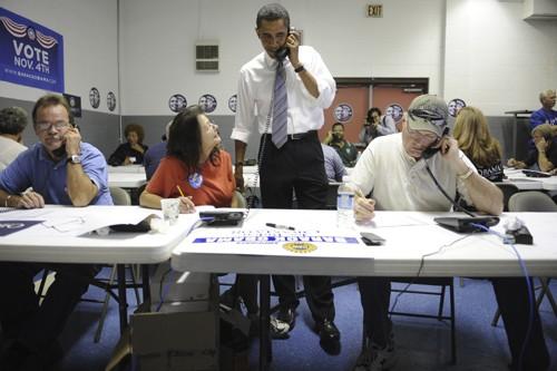 Les bénévoles qui ont contribué à l'élection de... (Photo: Archives AFP)