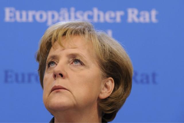 La chancelière Angela Merkel, accusée de tergiverser face à la récession qui... (Photo: AFP)