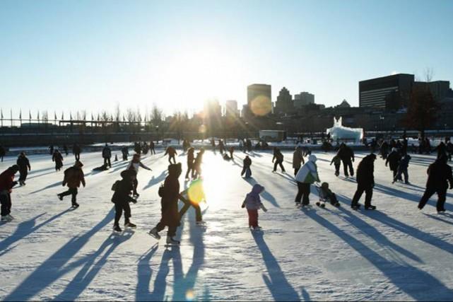 La patinoire des quais du Vieux-Port de Montréal... (Photo fournie par la Société du Vieux-Port de Montréal)