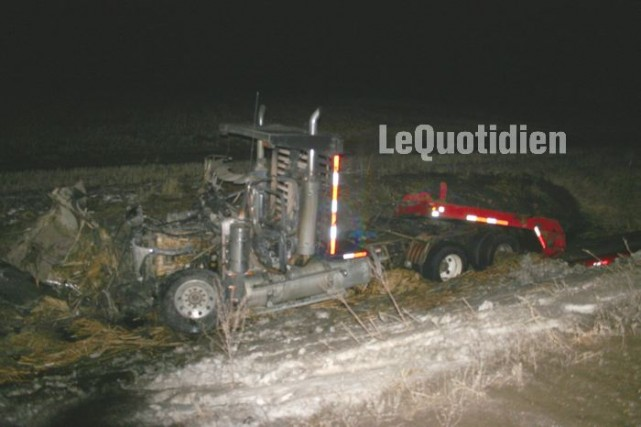 Un violent accident de la route a fait... (Le Quotidien, Marc St-Hilaire)