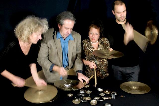 Danielle Palardy Roger, Jean Derome, Joane Hétu et... (Photo: Céline Côté)