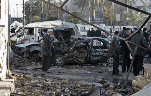 Au moins huit Irakiens ont été tués et 43 blessés dans un attentat à la voiture... (Photo: AFP)