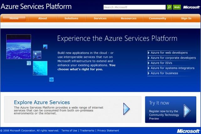 La plate-forme Azure de Microsoft...