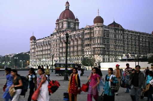 L'hôtel Taj Mahal, cible des terroristes.... (Photo: AFP)