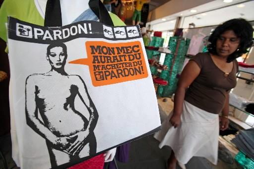 La sac de la société Pardon... (Photo: AFP)