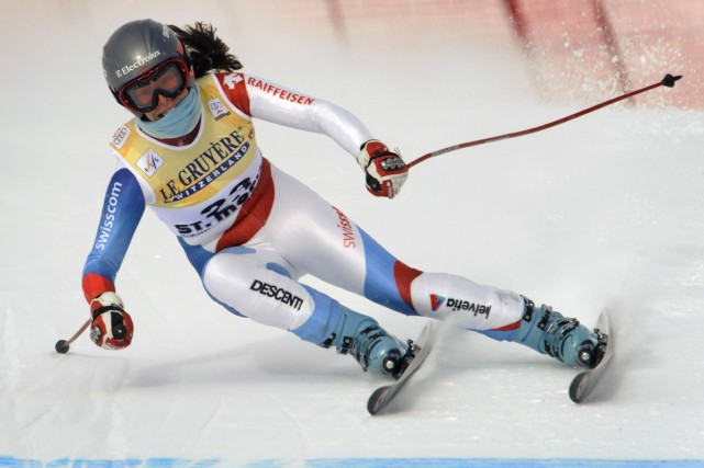 Dominique Gisin... (Photo: AFP)