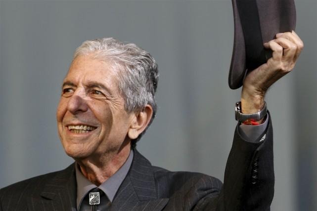 Un DVD de Leonard Cohen en spectacle sera en magasin le 23 mars prochain. On y... (Photo: AFP)