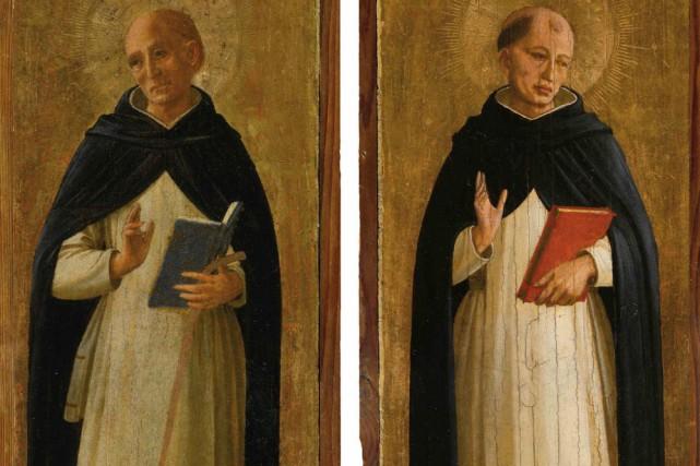 Deux tableaux du peintre italien du Quattrocento Fra Angelico, inconnus du... (Photo: AFP)