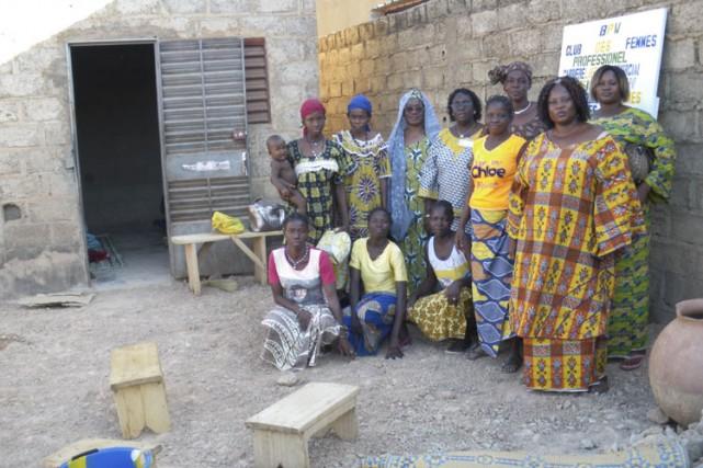 C'est dans cette cour, sans électricité, sans meuble,... (Photo: Azize Bamoko, Collaboration spéciale)