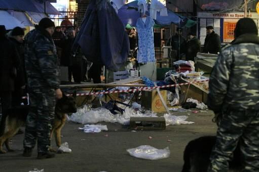 Au moins neuf personnes ont été blessées par une explosion samedi sur un marché... (Photo: AFP)