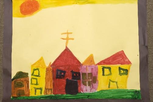 Le petit Simon a peint cette série de... (Photo: La Presse)