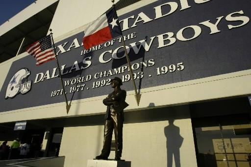Les partisans des Cowboys de Dallas et leurs anciens joueurs ayant leur niche... (Photo: AP)