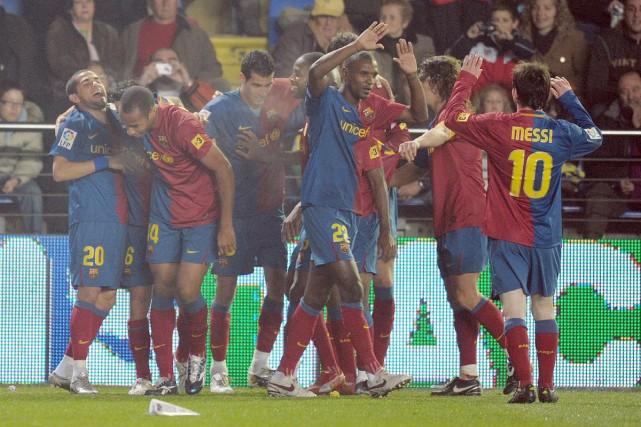 Le FC Barcelone, assuré du titre honorifique de... (Photo:  AFP)