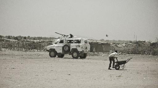 La mission de paix ONU-Union africaine au Darfour (MINUAD) a commencé son... (Photo: Stéphanie Lapointe, collaboration spéciale)