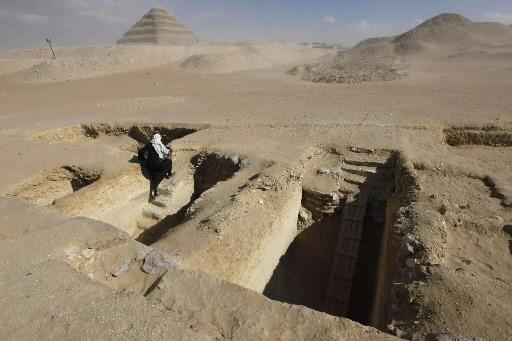 Deux tombes datant d'il y a 4300 ans... (Photo: AP)