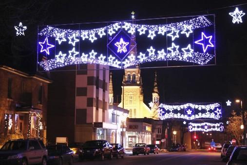Pendant les Marchés de Noël Joliette-Lanaudière, le centre-ville... (Photo fournie par les Marchés de Noël Joliette-Lanaudière)