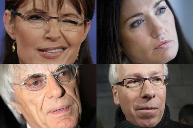 Sarah Palin, Julie Couillard, Bernie Ecclestone et Stéphane... (Photos: AP, PC et La Presse)