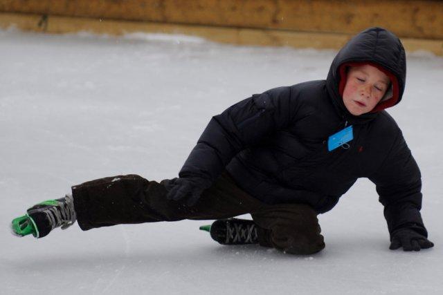 Les patinoires fermées? En ce temps de congé... (Photo: Bernard Brault, La Presse)