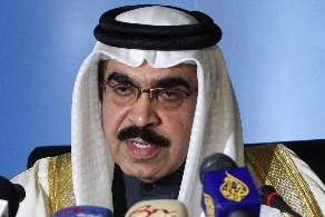 Le minitre de l'Intérieur du Bahreïm, Cheik Rachid... (Photo: Reuters)