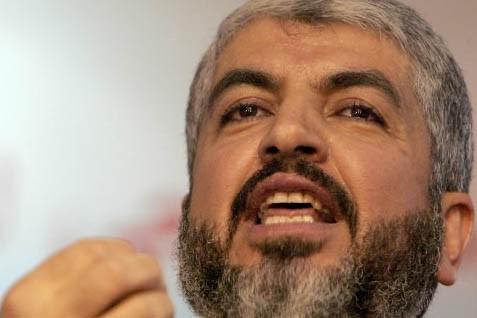 Le chef en exil du Hamas, Khaled Mechaal... (Photo: AFP)