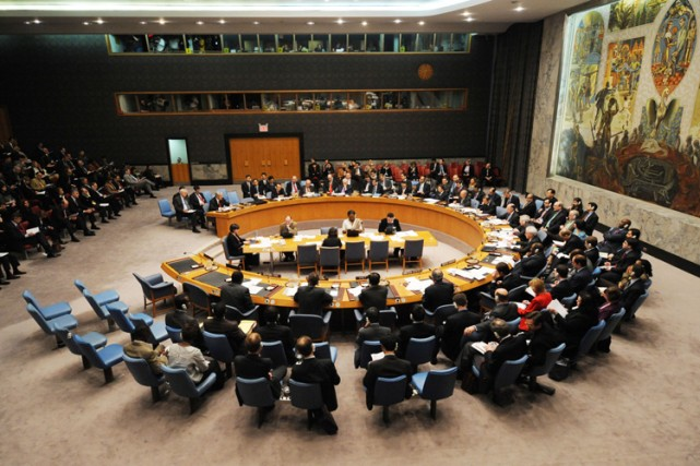 Le Conseil de sécurité de l'ONU a entamé samedi soir des consultations... (Photo: AFP)