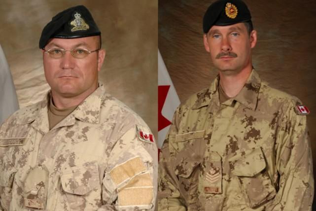 L'adjudant-chef Gaétan Joseph Maxime Roberge et le sergent... (Photos: PC)