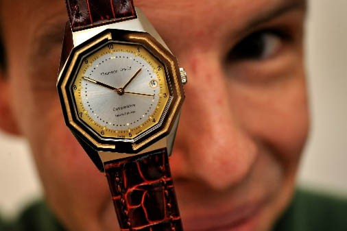 David Chanson, horloger suisse... (Photo: AFP)
