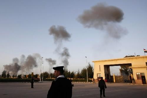 Les tirs de roquettes se raprochent de l'Égypte.... (Photo: AP)