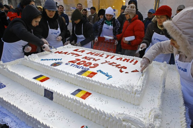 Bucarest a établi un nouveau record mondial hier avec la préparation d'un... (Photo: Reuters)