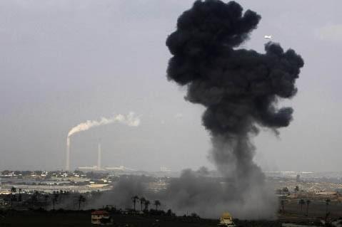 Des explosions dans la ville de Gaza.... (Photo: AFP)