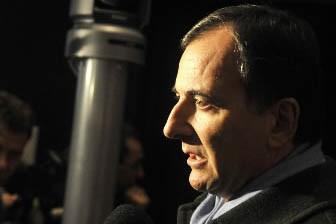 Le ministre italien des Affaires étrangères Franco Frattini.... (Photo: AFP)