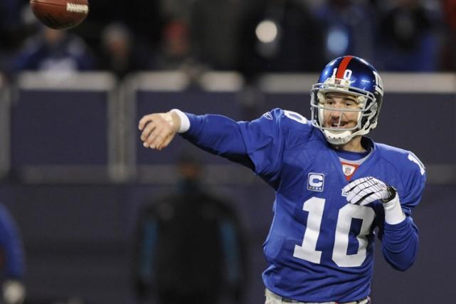 Le quart-arrière des Giants de New York, Eli... (Photo: Reuters)